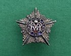 Rare WW1 Guards Machine Gun Battalion Officers Service Dress Cap Badge