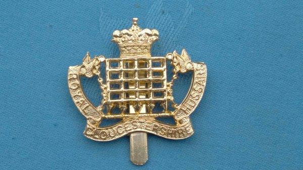 The Royal Gloucestershire Hussars cap badge.