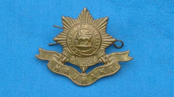 The 6th Hauraki Battalion cap badge.