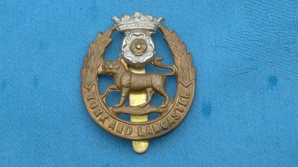 The York&Lancaster Regiment cap badge.