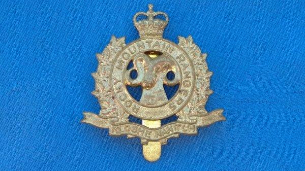 The Rocky Mountain Rangers cap badge.