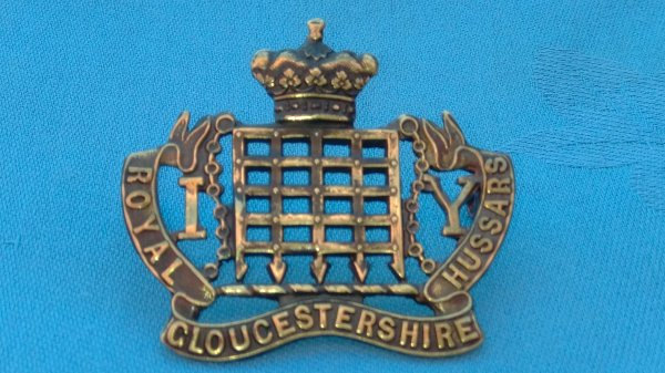 Royal Gloucestershire Imperial Hussars Yeomanry cap badge.