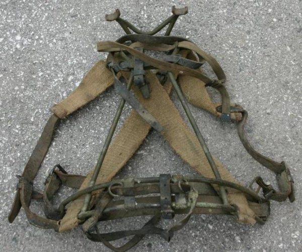 Original WWII German 8cm (80mm) Mortar Pack Frame,