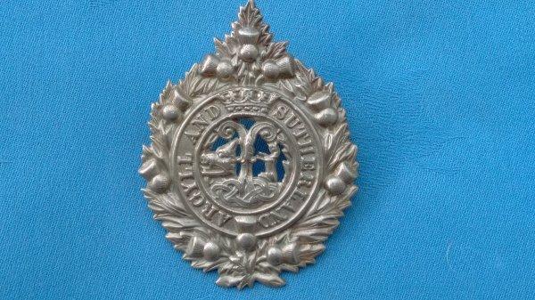 The Argyll&Sutherland Highlanders cap badge.