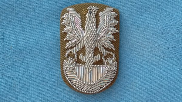 Polish Army Officers Bullion Cap badge.