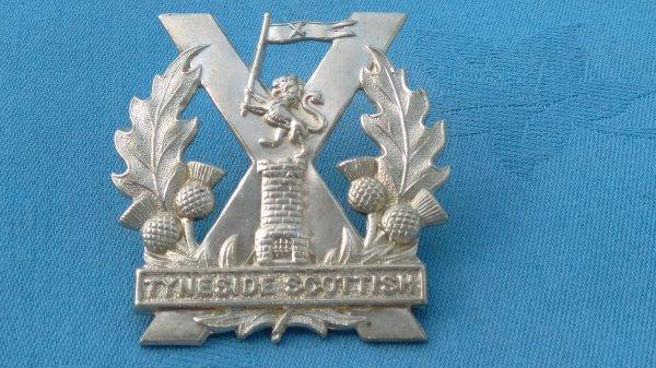 The Northumberland Fusiliers Tyneside Scottish Cap badge.