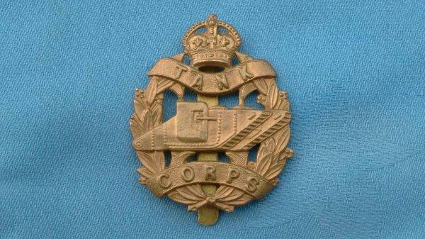 The Tank Corp cap badge.