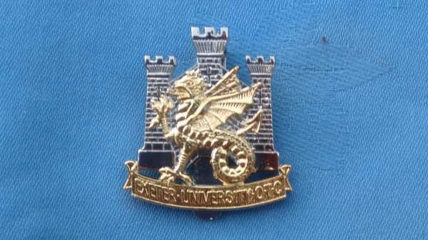 The Exeter University Officers Training Corp cap badge.