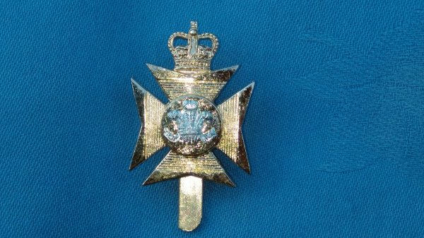 The Wiltshire Territorials cap badge.