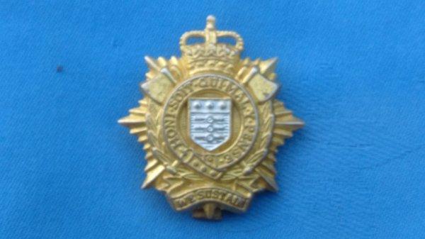 The Royal Logistical Corp cap badge.