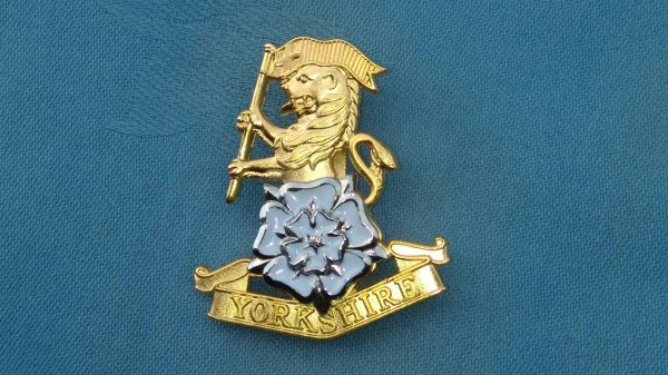 The Yorkshire Regiment Officers cap badge.