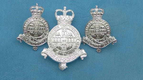 The Cambridgeshire Officers Training Corp cap/collar badges.