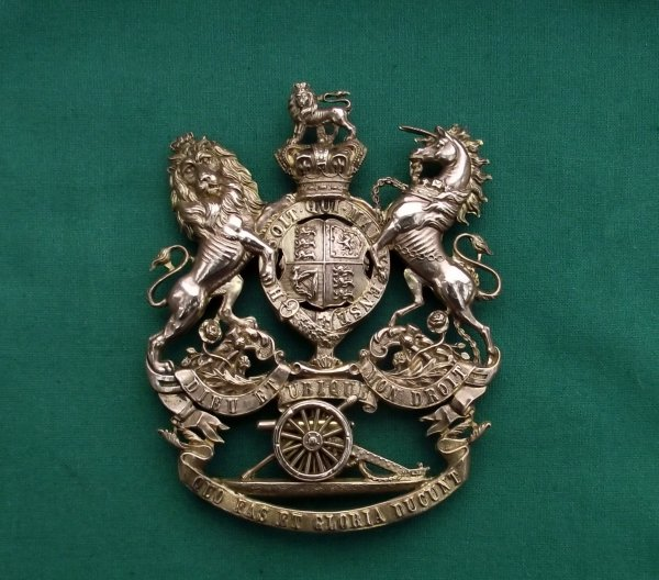 Royal Artillery QVC Pattern Officers Helmet Plate