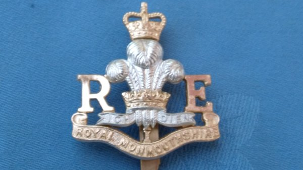 The Royal Monmouthshire Engineers Militia cap badge.