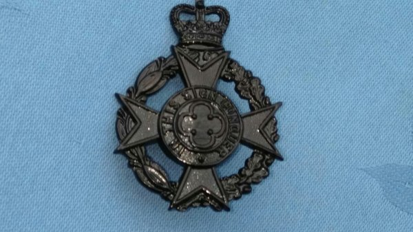 The Royal Army Chaplins Department.Christian cap badge.