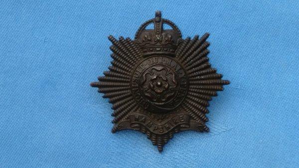 The Hampshire Regiment Officers Service Dress cap badge.