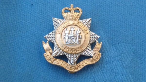 The 23rd County of London Battalion cap badge.