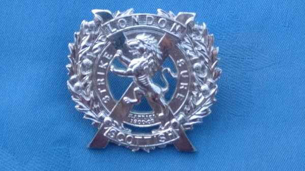 The 14th County of London Battalion.London Scottish cap badge.