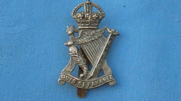 The Royal Irish Rifles cap badge.