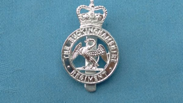 The Buckinghamshire Regiment cap badge.