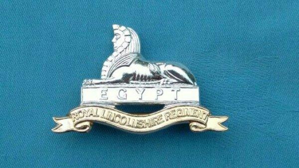 The Royal Lincolnshire Regiment cap badge.