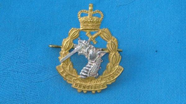 The Royal Army Dental Corp cap badge.