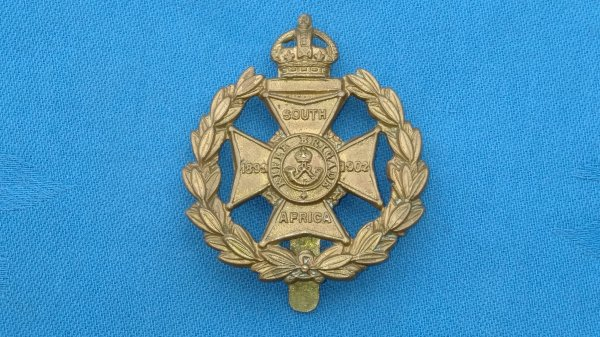 The Rifle Brigade cap badge.