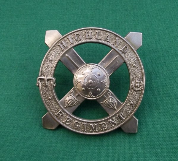 Genuine Highland Regiment Cap Badge