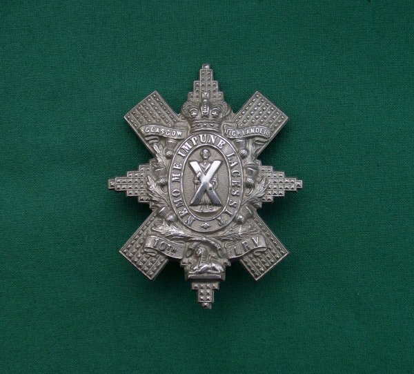 Genuine, Victorian 10th Lanarkshire (Glasgow Highlanders) Rifle Volunteers, Cap Badge