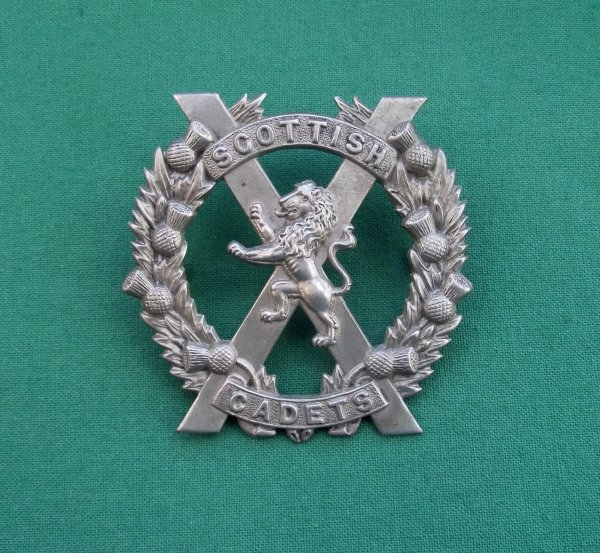 Scarce Scottish Cadets Cap Badge