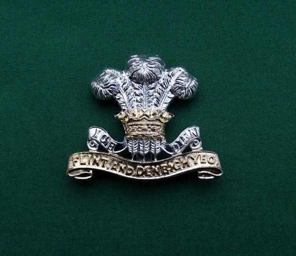 Rare Flint & Denbigh Yeomanry Cap Badge 'Gaunt London'
