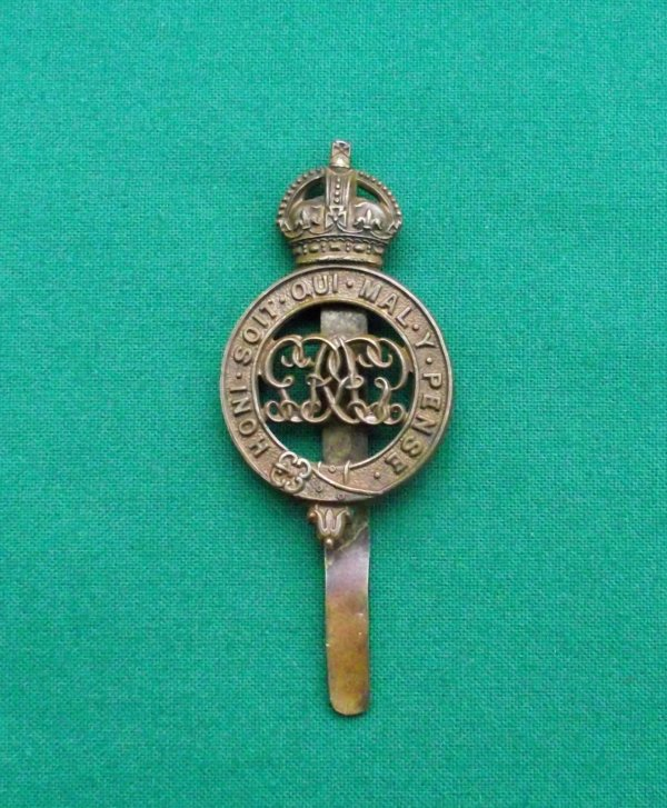 Genuine Grenadier Guards Pagri Badge, KC GvR