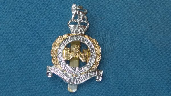 The Devonshire Territorials cap badge.