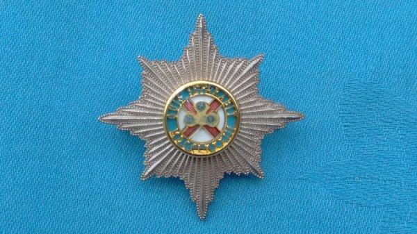 The Irish Guards Officers cap badge.