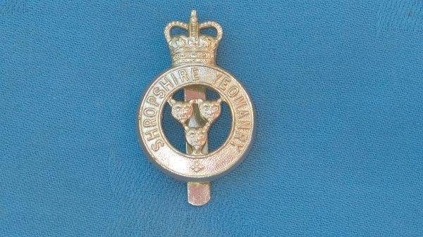 The Shropshire Yeomanry cap badge.
