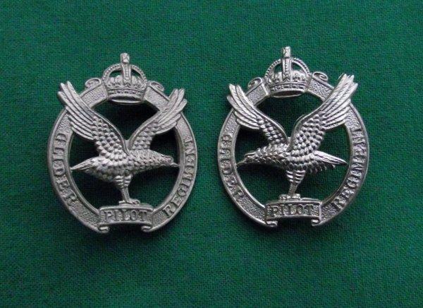 The Glider Pilot Regiment, Scarce c.1950-55 (KC) Collar Badges