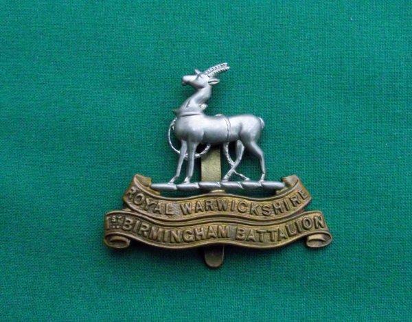 Genuine WW1 1st Birmingham Pals Cap Badge