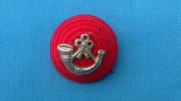 The Light Infantry Officers Boss cap badge.