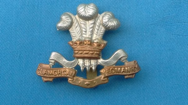 The Glamorgan Yeomanry cap badge.