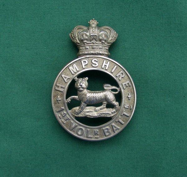 1st Volunteer Battalion The Hampshire Regiment Victorian Glengarry Badge