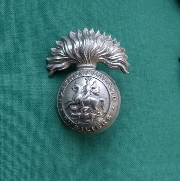 Northumberland Fusiliers Volunteer and TF ORs Pattern Cap Badge