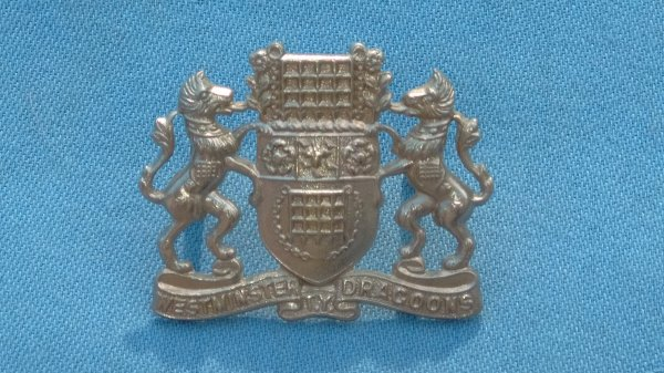 The Westminster Dragoons TY cap badge.