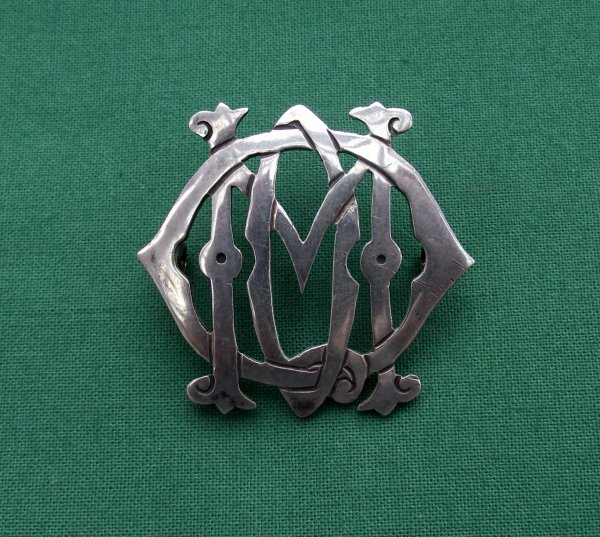 The 13th/18th Royal Hussars (Queen Mary's Own) NCO Silver arm/sleeve badge.