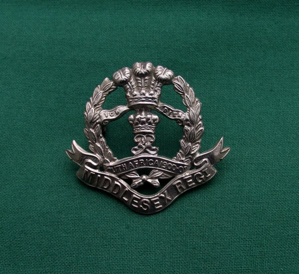 NCOs 7th, 8th & 9th Battalions Middlesex Regiment Cap Badge