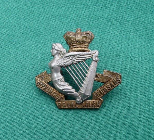 Victorian 8th King's Royal Irish Hussars QVC Cap Badge