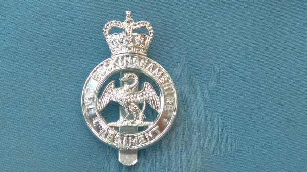 The Buckinghamshire Regiment cap badge.