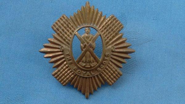 WW1.The Royal Scot Guards  cap badge.