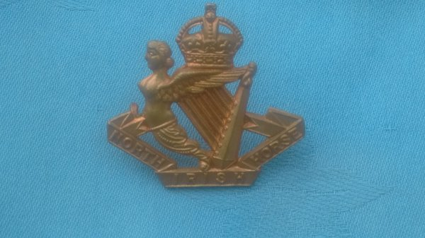The North Irish Horse Troopers cap badge.