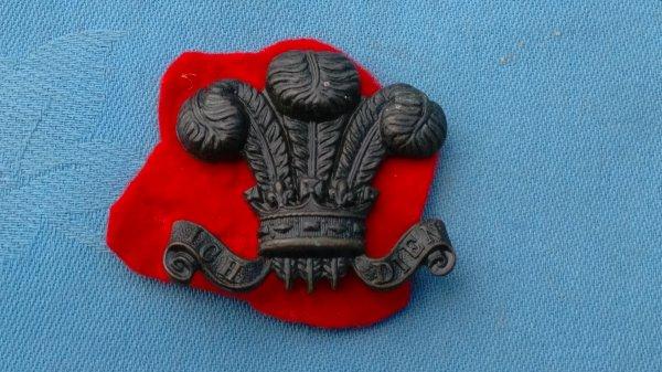 The 15th Battalion city of London Regiment.The Civil Service Rifles cap badge.
