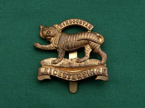 WW1 Leicestershire Regiment Economy Issue Cap Badge